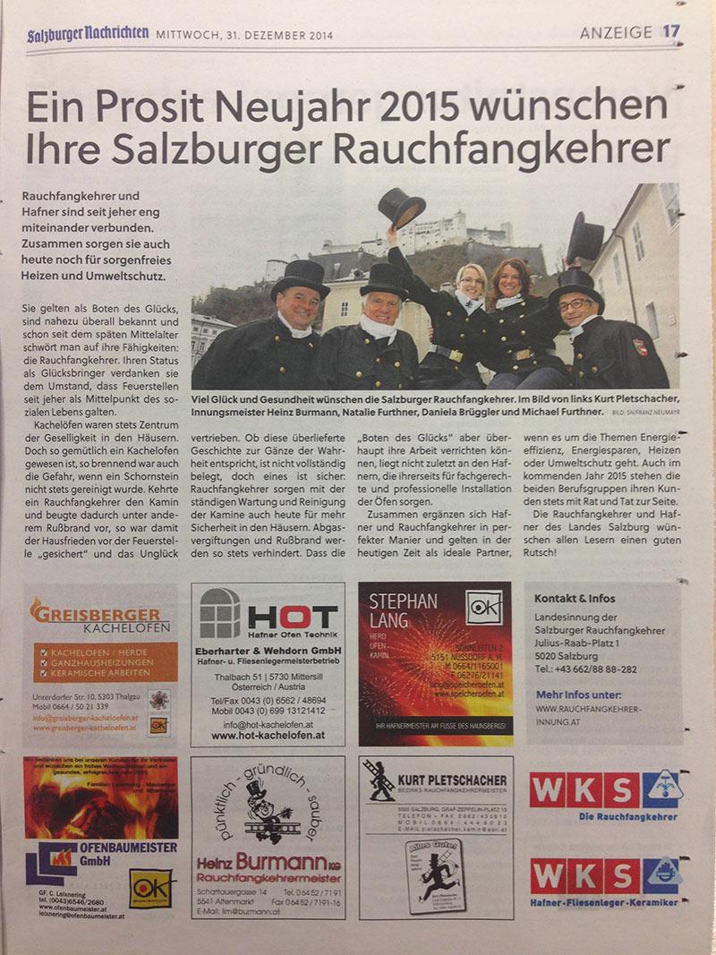 rauchfangkehrer Bericht salzburger nachrichten_2015