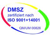 Logo DMSZ zertifizierte Rauchfangkehrer nach ISO9001+14001