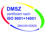 Logo DMSZ Zertifizierung ISO9001+14001