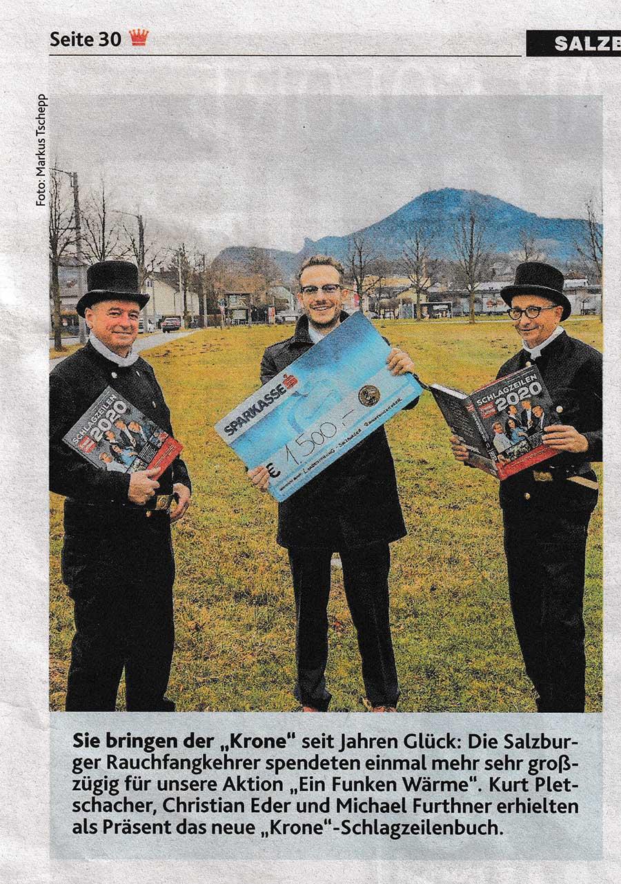 Krone BEricht Salzburger Rauchfangkehrer