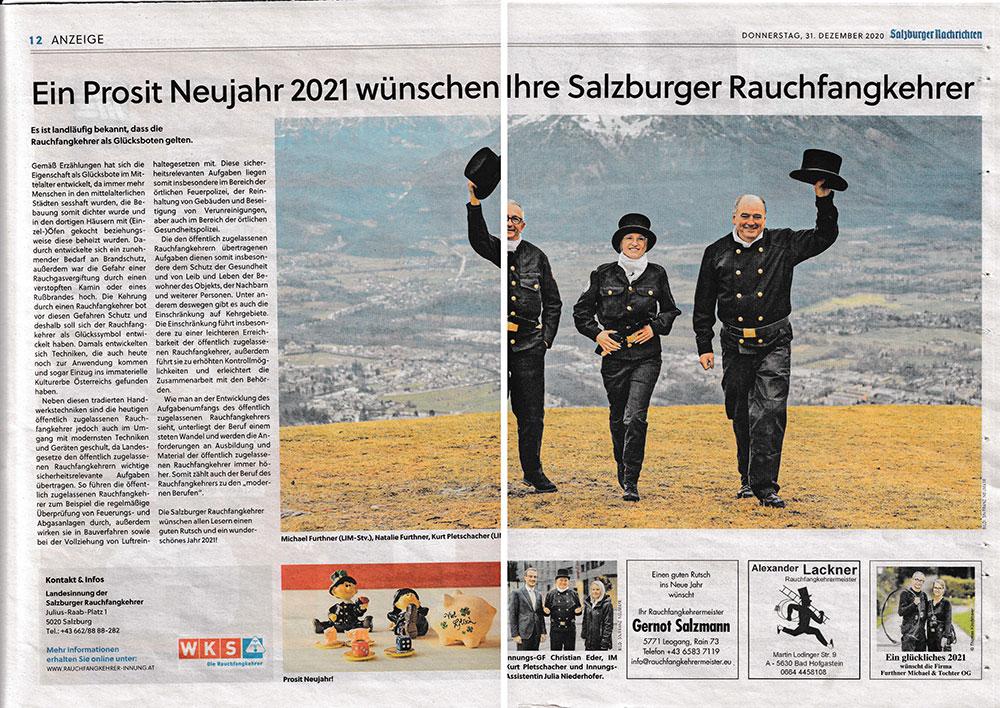 SN BEricht über die Salzburger Rauchfangkehrer