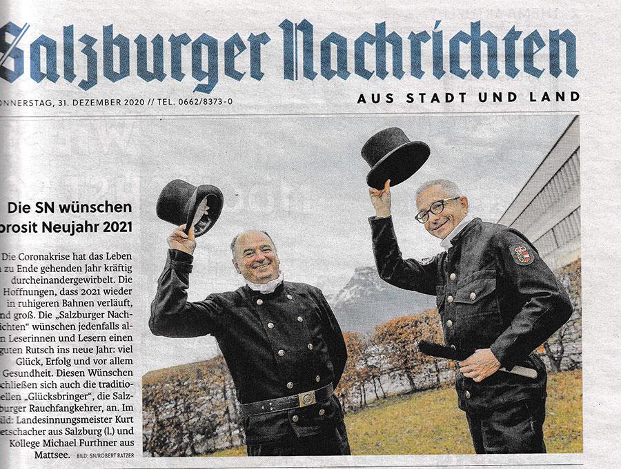 Salzburger Rauchfangkehrer Neujahrswünsche Salzburger Nachrichten